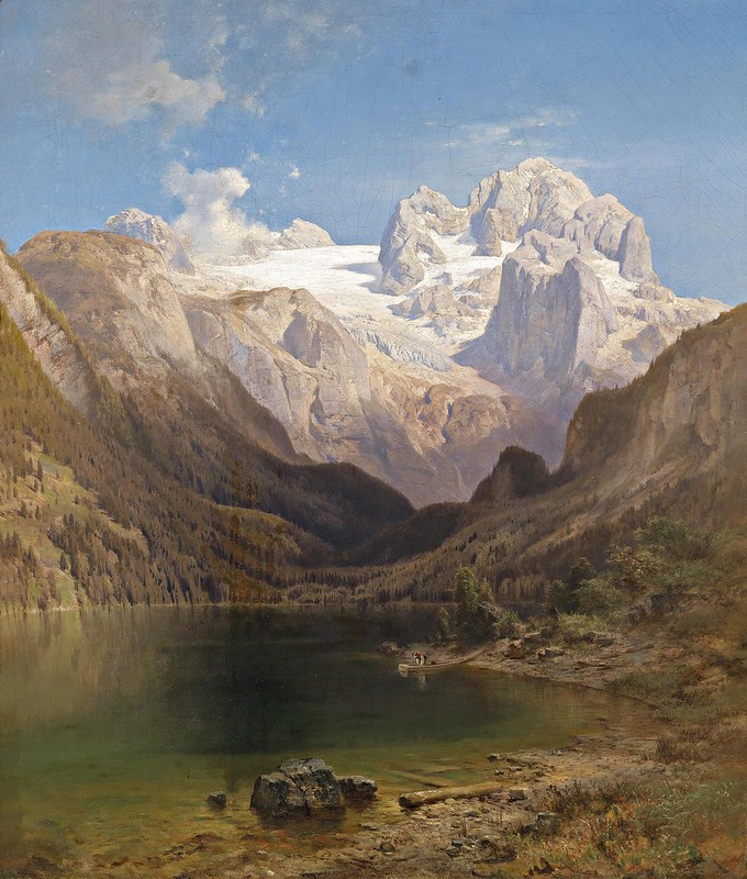 Anton Hansch - Blick vom Gosausee auf den Dachstein (c.1876)
