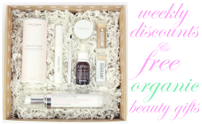 Weekly Discounts and Free Organic Beauty Gifts #47