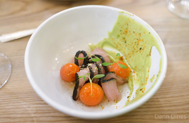 Hamachi Nori, Avocado, Sweet & Sour Tomatoes