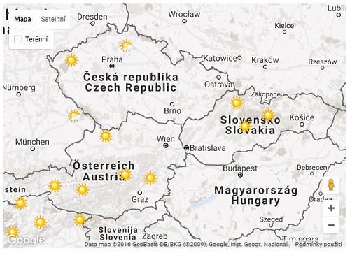 Předpověď počasí pro Česko až na 9dnů