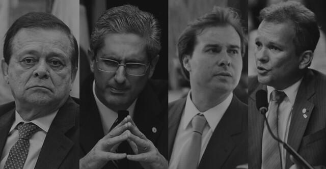 Os quatro presidenciáveis favoritos da Câmara Federal  - Créditos: Arte BdF