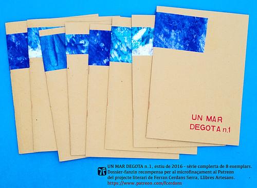 Un mar degota n.1, revista d'autor de Ferran Cerdans Serra, estiu 2016