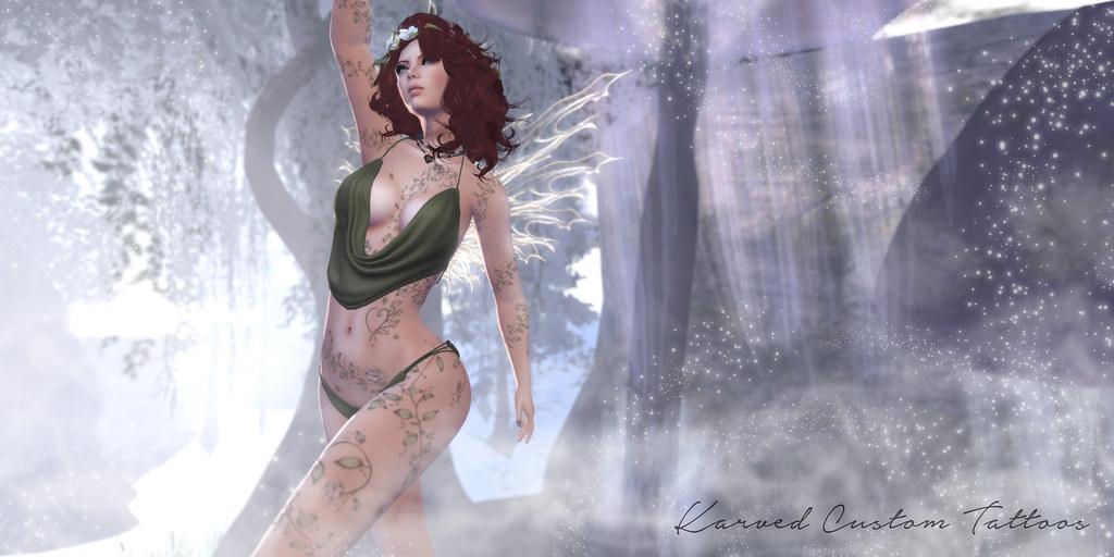 KARVED Custom Tattoo - Fae Bouquet - SecondLifeHub.com
