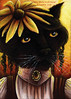 Miss Black Eyed Susan Cat