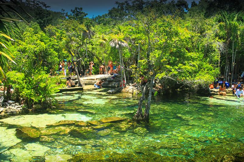 Resultado de imagen para cenote azul riviera maya
