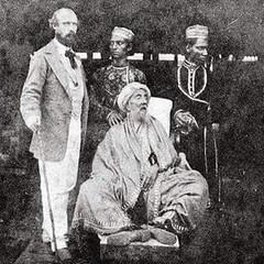 A rare photograph of the last Mughal, Bahadur Shah Zafar, before his death in Rangoon..