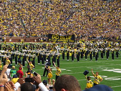 Michigan Wolverines Take the Field, BYU vs. Michigan, Michigan Stadium, University of Michigan, Ann Arbor, Michigan