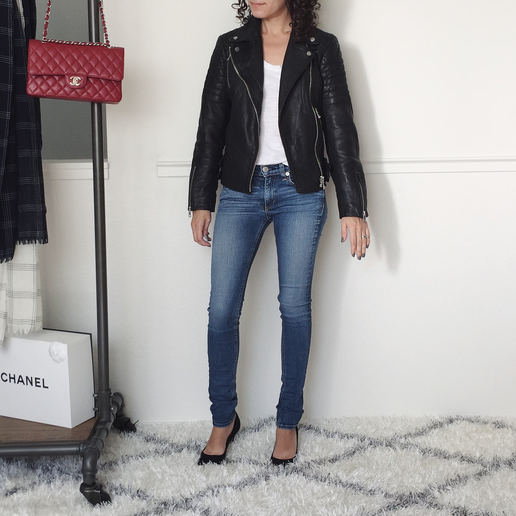 petite all saints leather jacket review
