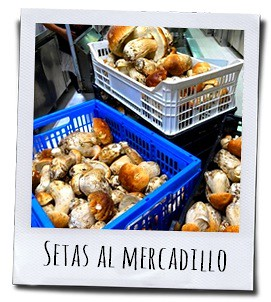De vers geplukte paddenstoelen worden uitgestald op de markt