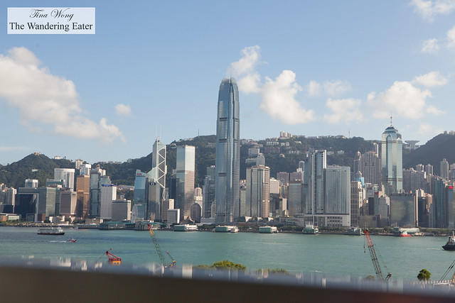 View of Central Hong Kong from the main entrance of Ritz Carlton Hong Kong