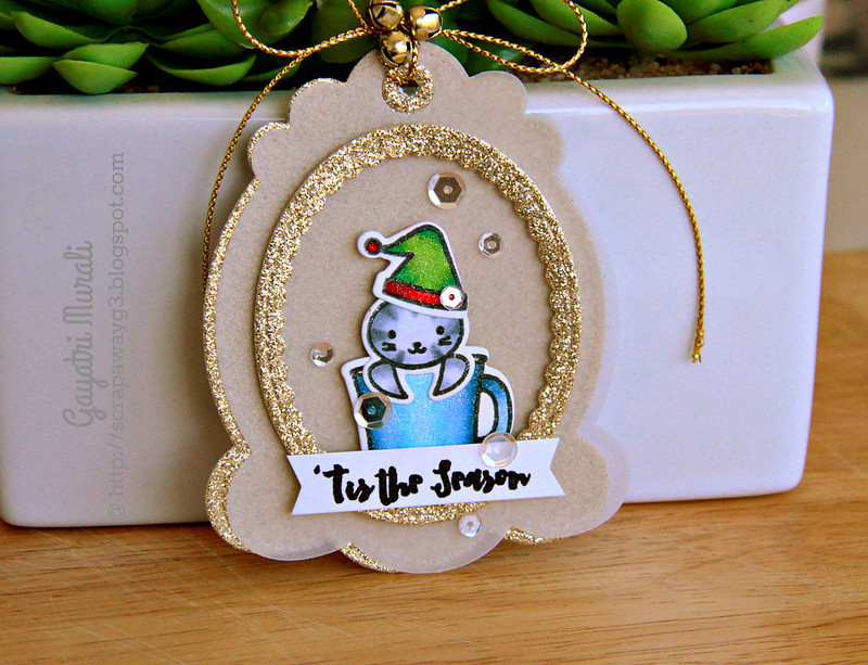 Tis the season tag closeup