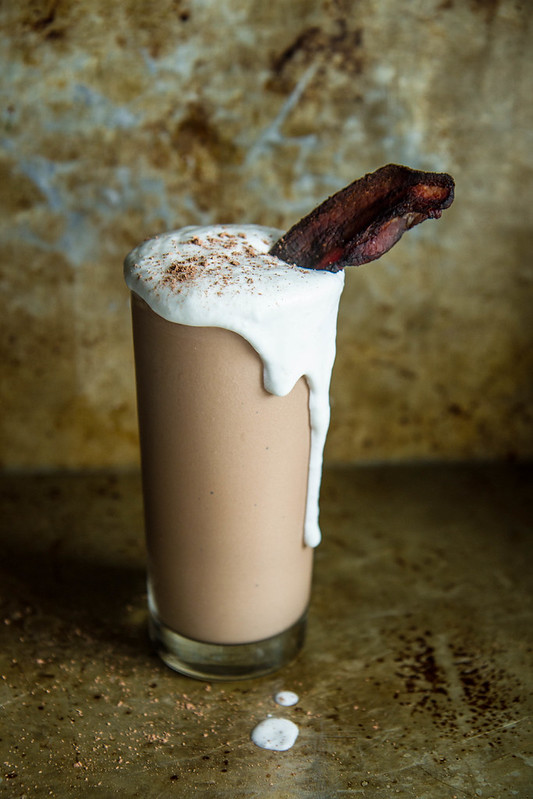 Chocolate Peanut Butter bacon and Bourbon Milk Shake- dairy free