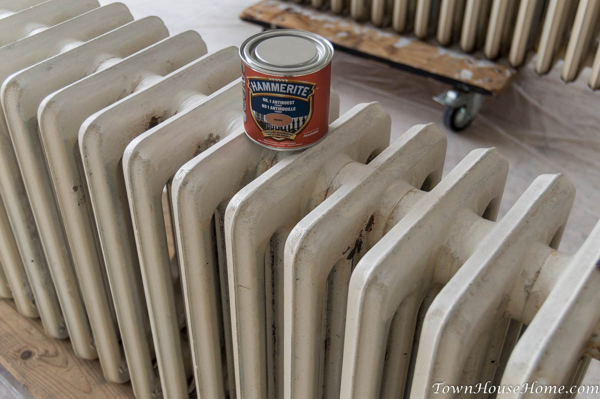 Radiator and Hammerite bucket