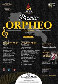 """Rutigliano-IX Edizione del Premio Regionale """"Orpheo"""""""