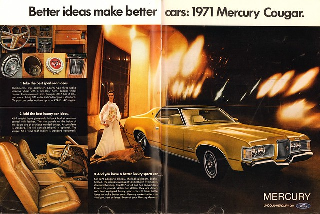 1971 Mercury Cougar Advertisement Playboy October 1970
