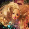 Here's how you know IT'S ON: the #barbiehead ornament is on the #christmastree #barbie