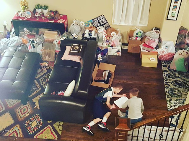 I love to buy my children Christmas presents.   My family,  too.  But nothing is a better Christmas gift for me than seeing and experiencing first hand the generosity of others.  And my kids living in all these gifts,  having service such a visible part o