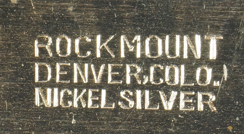 RD15035 Vintage Rockmount Denver Nickel Silver Horse Head Belt Buckle DSC07417