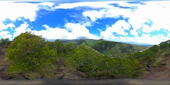 At the first lookout on the Lanipo Trail on Mau'umae Ridge - a 360° Equirectangular VR