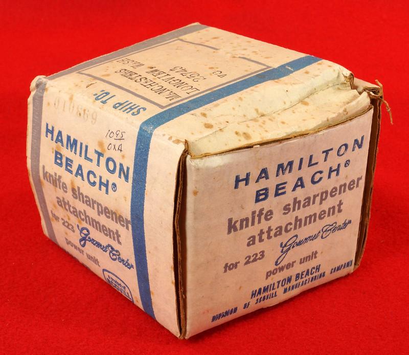 RD9228 Vintage Hamilton Beach Model 578 Knife Sharpener Attachmnt for 223 Gourmet Center Power Unit DSC08529