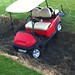 This golf cart took a wrong turn home last night. I think he stayed at the bar too long. by Safia girl