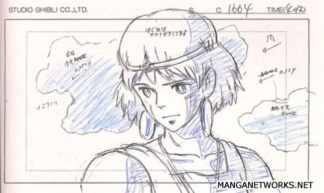 32966039642 11183fbb09 o 16 Storyboards của Studio Ghibli sẽ khiến bạn muốn xem lại Movie ngay lập tức !!