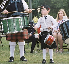 percussion, drummer, musician, kilt, drum, skin-head percussion instrument,