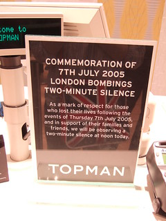 London bombings anniversary, nationwide two minute silence - 7th July 2006