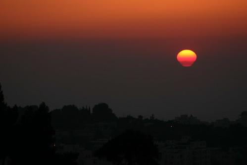 sunset jerusalem impressions