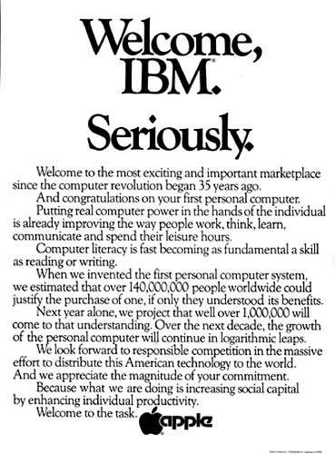 Welcome IBM. Seriously.
