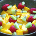 Mango, kiwi and raspberry fruit salad - Raw Vegan