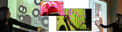 Getting Ready for OLED Technology - A Small Collage of Interactive Wall Applications on Our Smart Boards at the Interactive Interactive Show and Open Houses - Sheridan Interactive Multimedia One Year Post Grad College in Oakville