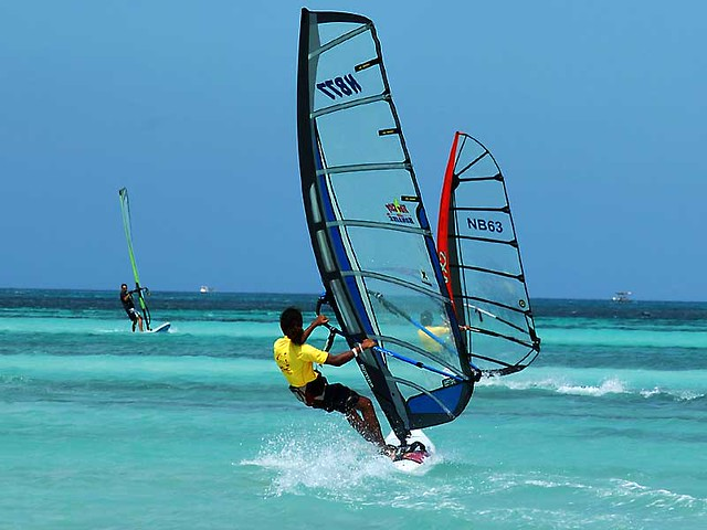 Windsurfing at Aruba