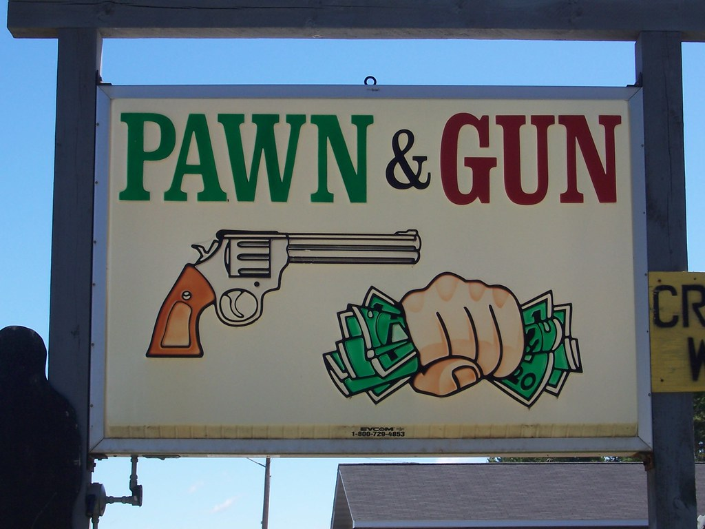 Pawn Gun Shop Sign Pembine Wisconsin Youd Never See A Flickr