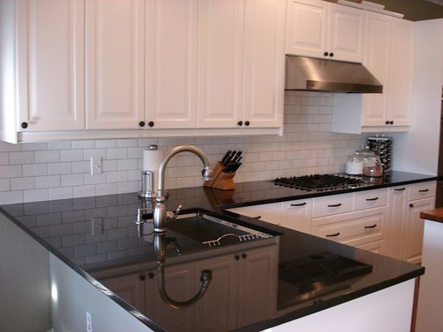 Need pics white cabinets and for Black cabinets white countertops