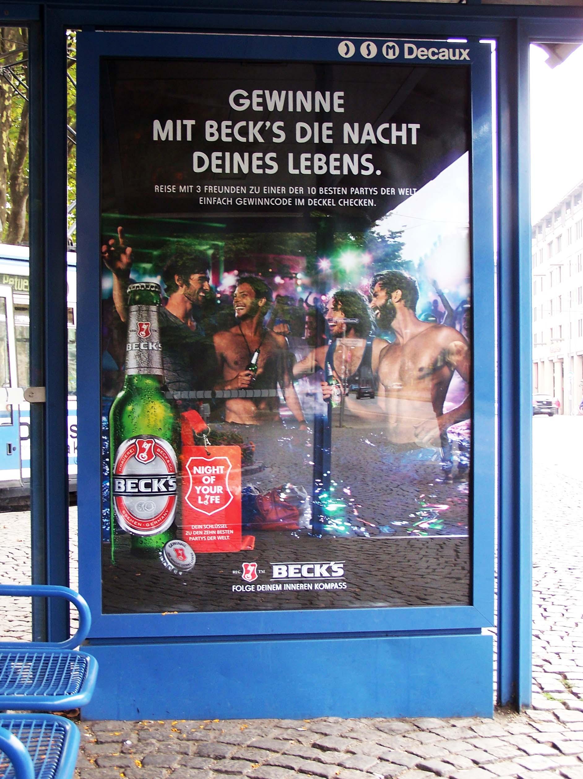 Gewinne mit Beck's die Nacht deines Lebens, Plakat Sendlinger-Tor-Platz