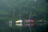small boats on a foggy morning by batty9a