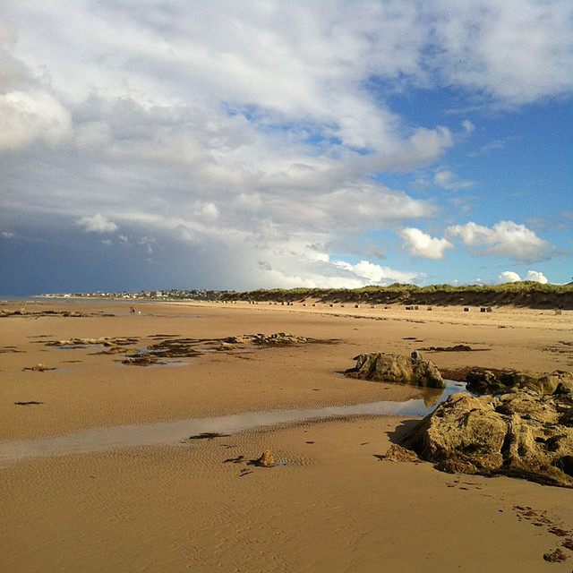 Covesea Beach looking to Lossiemouth