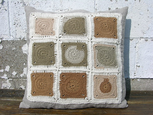 extra granny square pillow