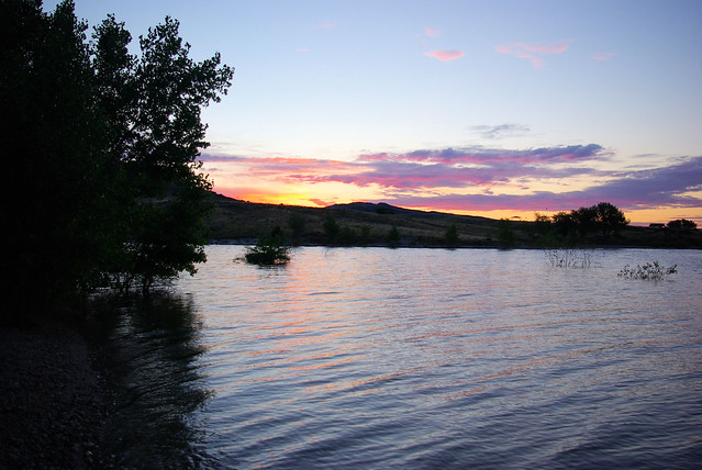 Twilight at Pathfinder Reservoir, Wyoming, July 12, 2010