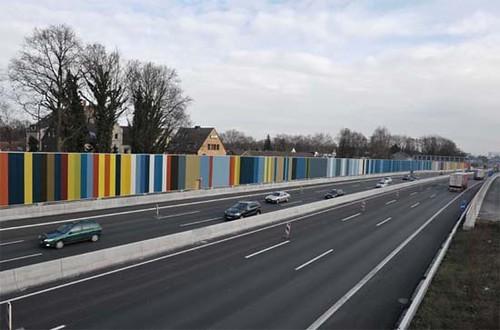barcode, A40 Autobahn/Freeway, Ruhrgebeit-Essen, Germany