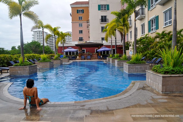 Outdoor Pool at Manila Marriott Hotel