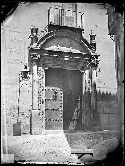 Portada del Hospital de Bálsamo por Casiano Alguacil hacia 1875. Archivo Municipal signatura CA-0488-VI