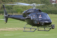 G-NPTV - 2007 build Eurocopter AS355 NP Ecureuil II, lifting for departure from Barton