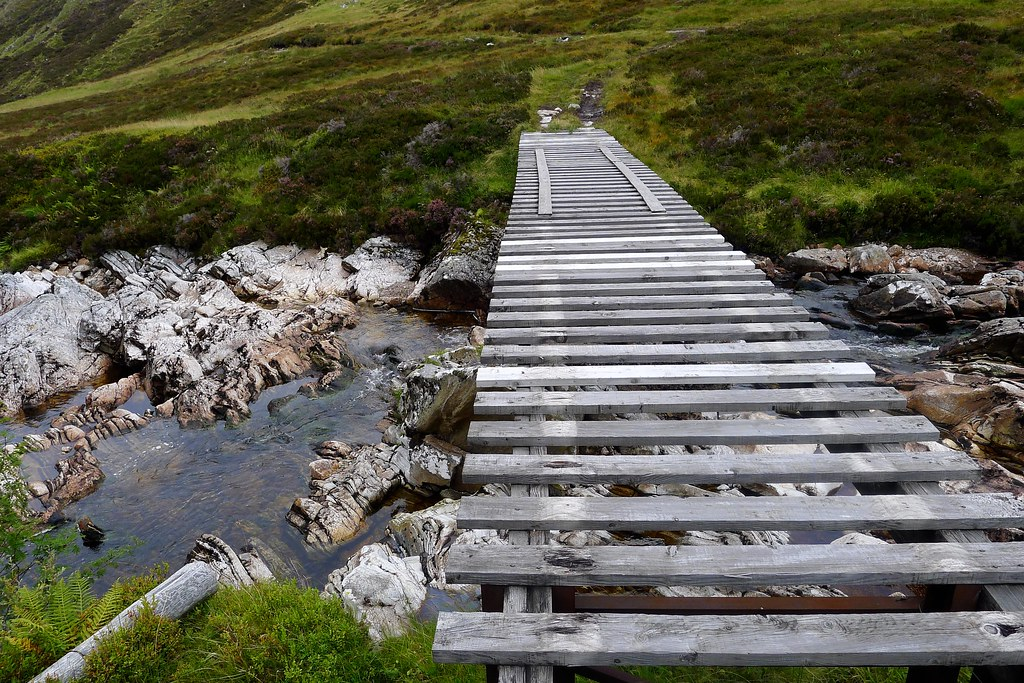 Scary bridge across the Allt Garbh