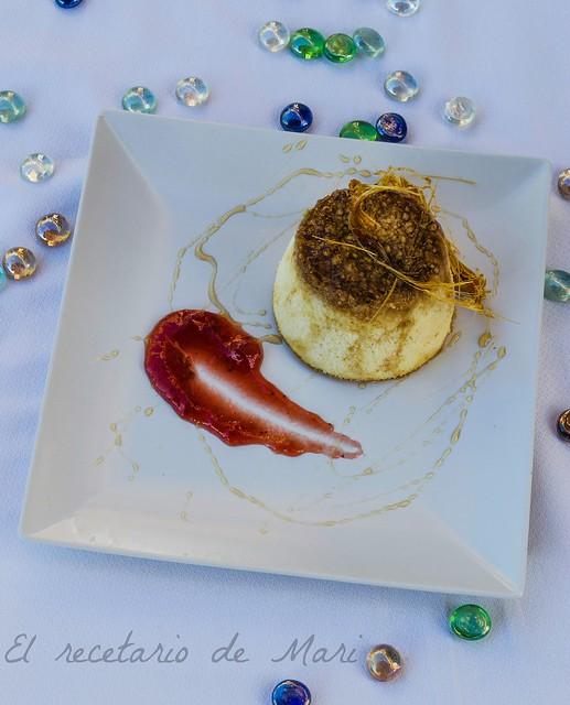 flan de queso con caramelo de miel 2