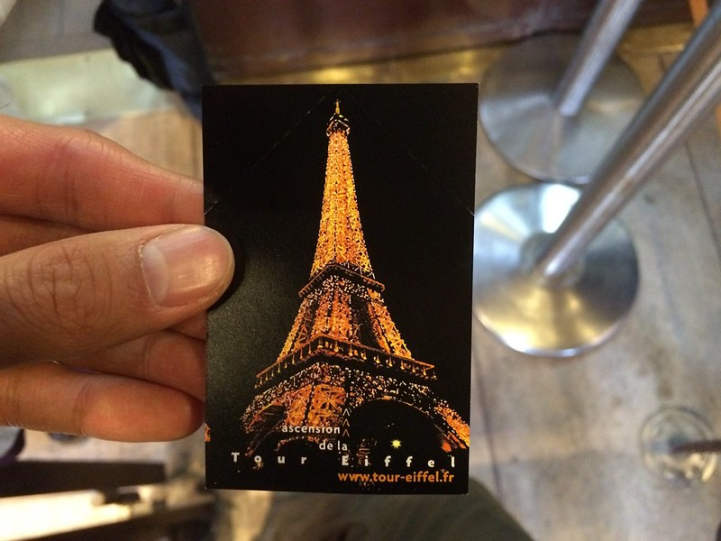 Front of Skip-the-Line Eiffel Tower ticket