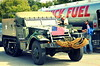 Halftrack fueling up, Bankhead Highway convoy, Fort Worth, 2015