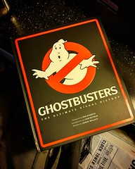 This just hit my desk today. If you are a Ghostbusters fan at all its a must have! So much detail  and process from the movies to the cartoons and the new comics! I saw a shout out to you @montygog!   #ghostbusters #theSwitt