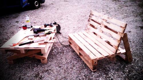 ressourcerie muebles con palettes